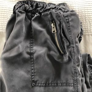 Abercrombie & Fitch Pants - Abercrombie lyocell gray silky pants small joggers